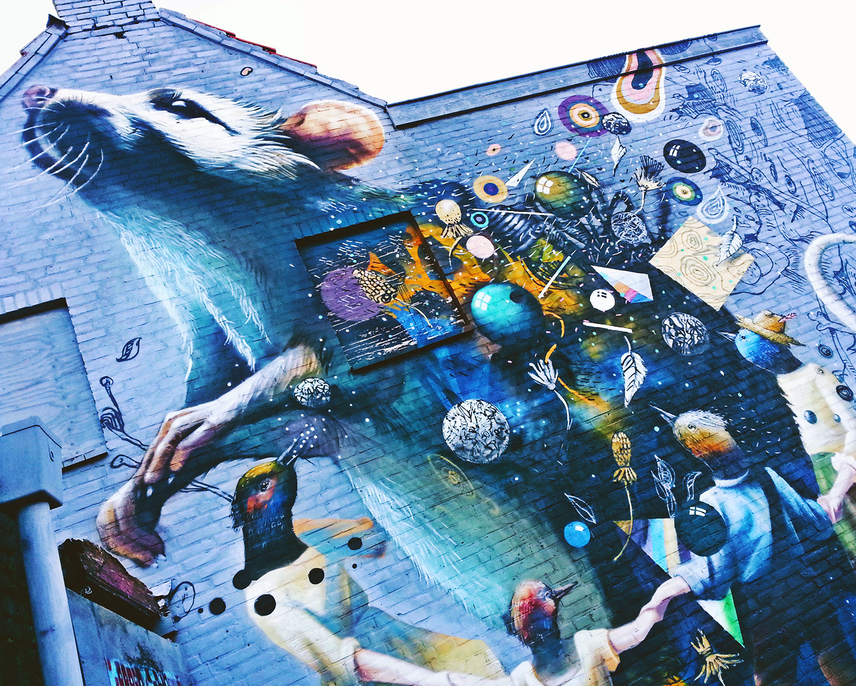 Mural in Breda, the Netherlands.