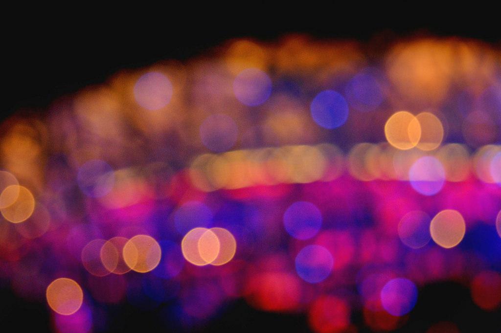 Blurry Beijing National Stadium.
