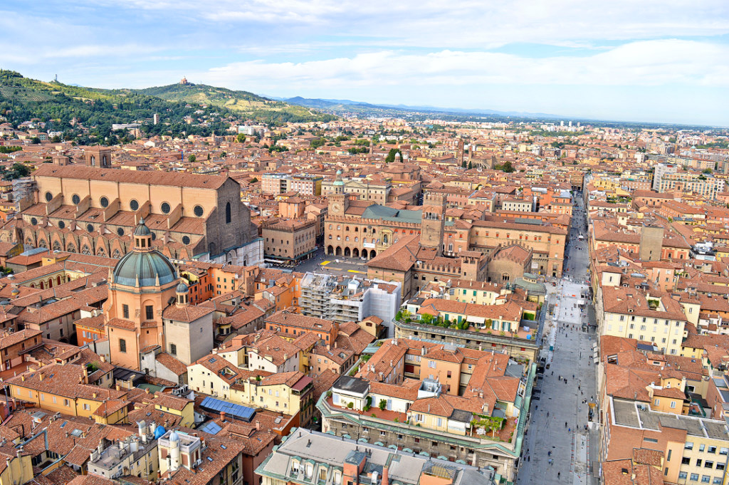 View of the city of Bologna