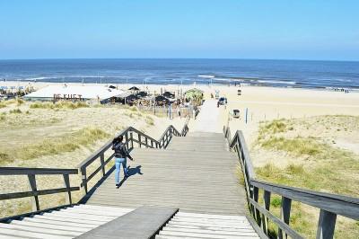 Kijkduin Beach in the Netherlands