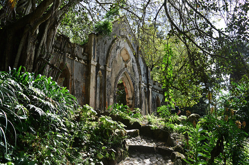 False ruin in Monserrate Park