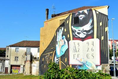 Mural in Viseu Portugal