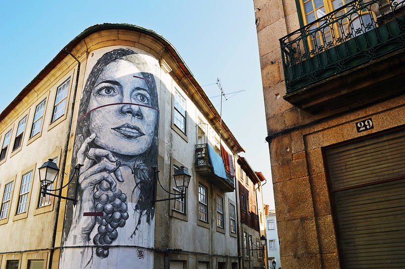Street art in Viseu Portugal