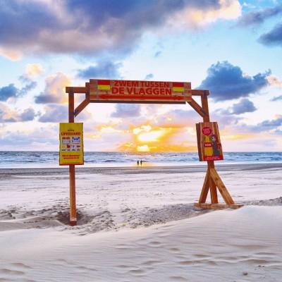 Stunning sunset at Ameland Beach