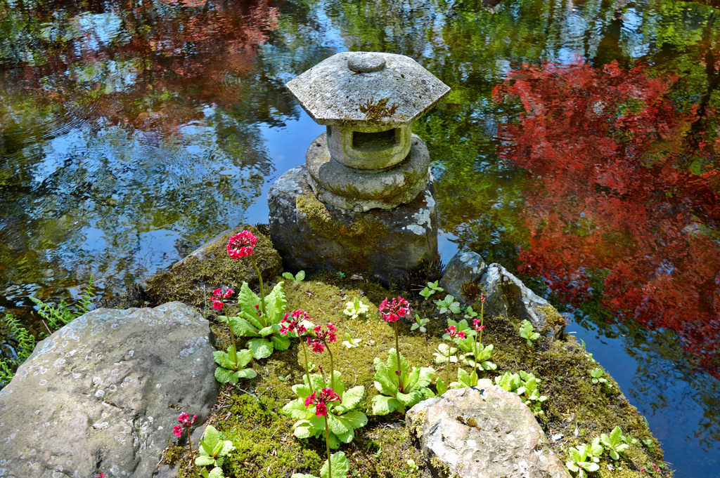 Lantern at the Japanese Garden in The Hague.
