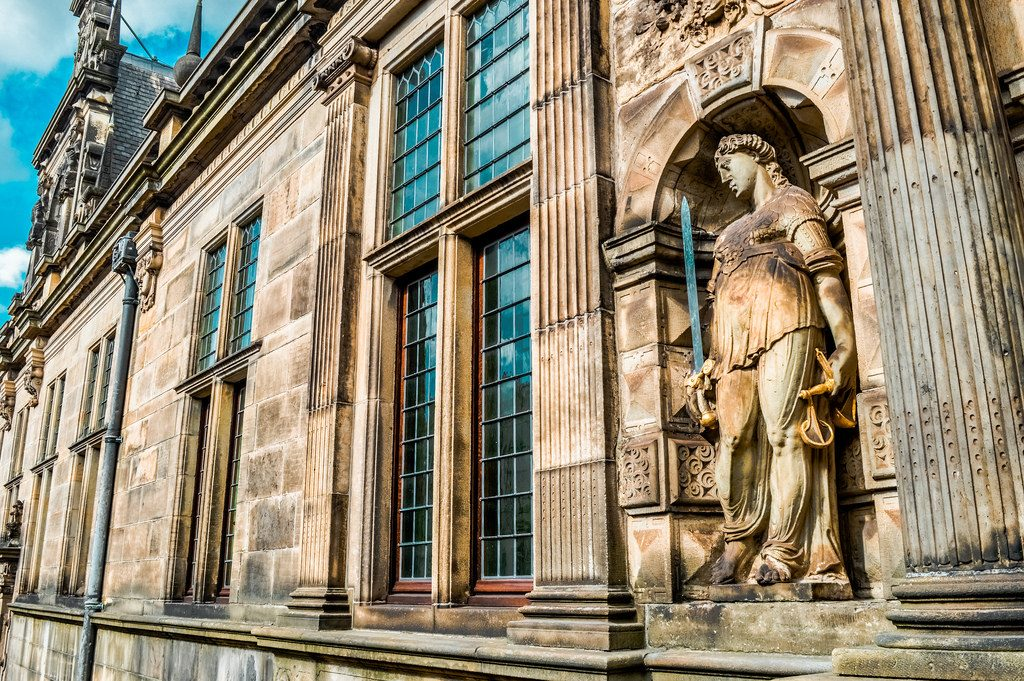 Lady Justice at Leiden City Hall