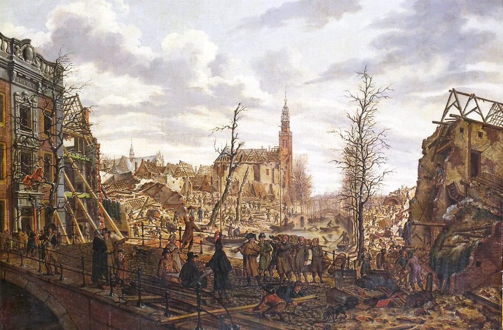 Van Der Werffpark ruins in Leiden